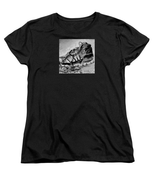 Women's T-Shirt (Standard Cut) featuring the painting Retro Adidas by Jeffrey S Perrine