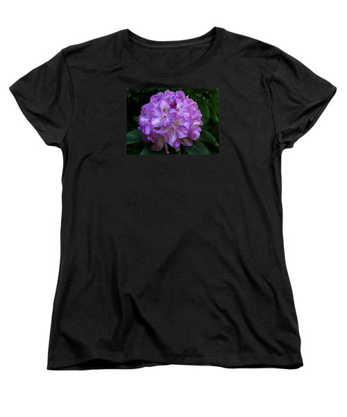Women's T-Shirt (Standard Cut) featuring the photograph Rhododendron ' Roseum Elegans '  by William Tanneberger