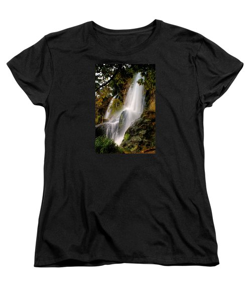 Women's T-Shirt (Standard Cut) featuring the photograph Rifle Falls by Priscilla Burgers