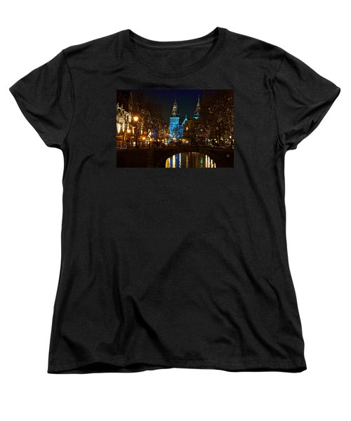 Rijksmuseum At Night Women's T-Shirt (Standard Cut) by Jonah  Anderson