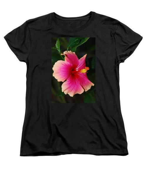 Rise And Shine - Hibiscus Face Women's T-Shirt (Standard Cut) by Connie Fox