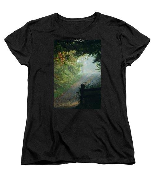 Road Goes On Women's T-Shirt (Standard Cut) by Michael McGowan