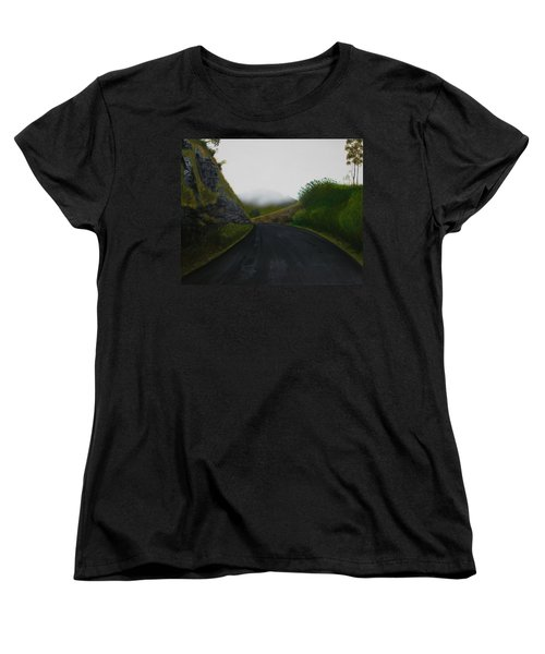 Women's T-Shirt (Standard Cut) featuring the painting Road Near Gresford Nsw by Tim Mullaney