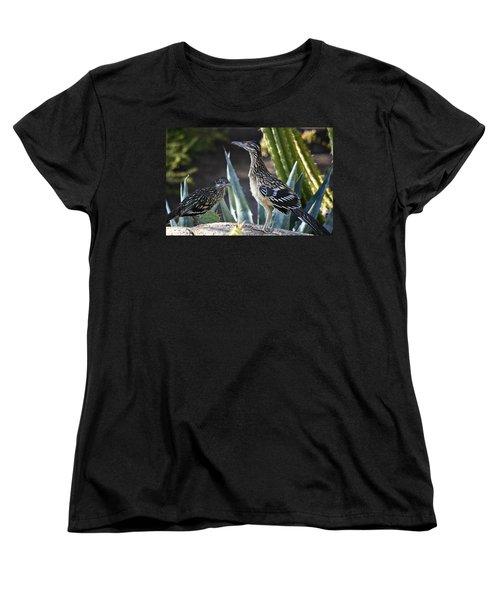 Roadrunners At Play  Women's T-Shirt (Standard Cut) by Saija  Lehtonen