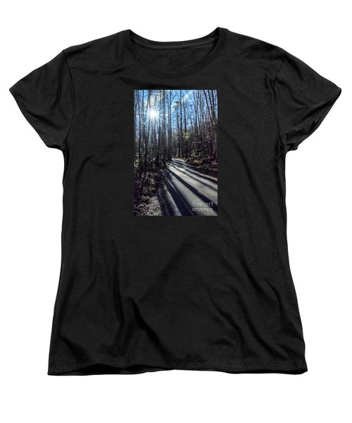 Women's T-Shirt (Standard Cut) featuring the photograph Roaring Fork Road by Debbie Green
