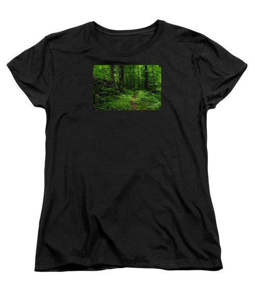 Women's T-Shirt (Standard Cut) featuring the photograph Roaring Fork Trail by Debbie Green