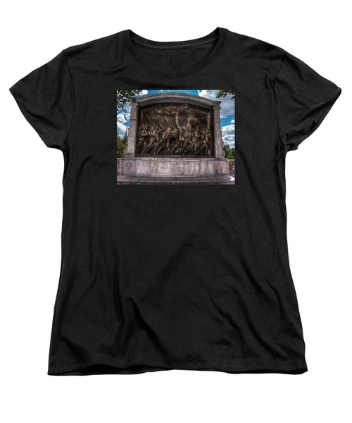 Robert Gould Shaw Memorial On Boston Common Women's T-Shirt (Standard Cut) by Tom Gort