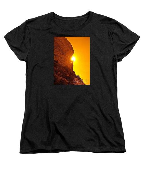 Rock Eclipse  Women's T-Shirt (Standard Cut) by Gem S Visionary
