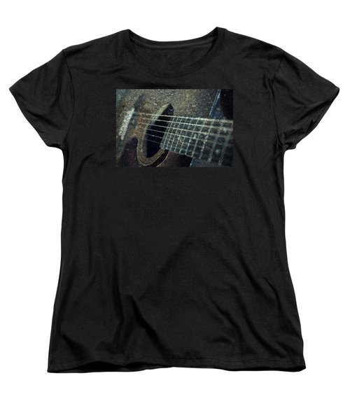 Rock Guitar Women's T-Shirt (Standard Cut) by Photographic Arts And Design Studio