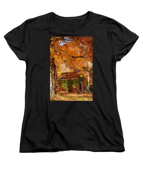 Women's T-Shirt (Standard Cut) featuring the photograph Rock Of Ages Surrouded By Color by Jeff Folger