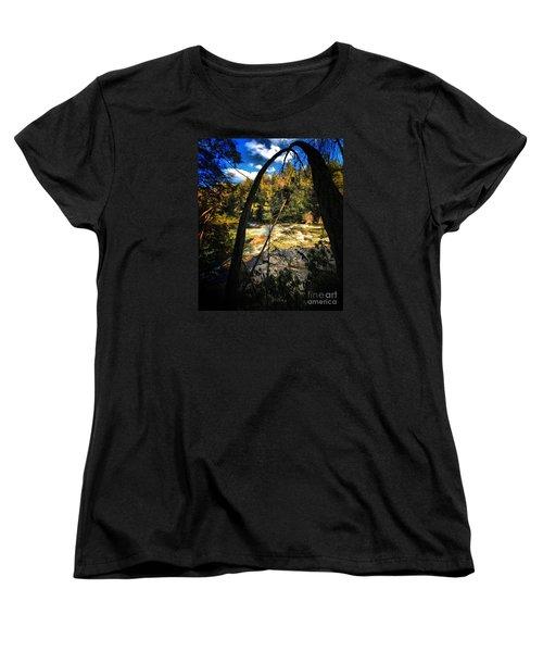 Rock Slide Women's T-Shirt (Standard Cut) by Robert McCubbin