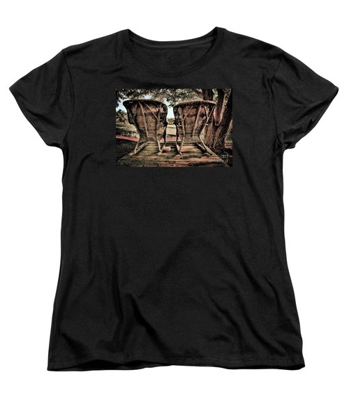 Rocking Chairs Women's T-Shirt (Standard Cut) by Terry Garvin