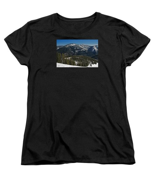 Women's T-Shirt (Standard Cut) featuring the photograph Rocky Mountain Top by Andy Crawford