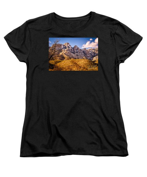 Women's T-Shirt (Standard Cut) featuring the photograph Rocky Peaks by Mark Myhaver