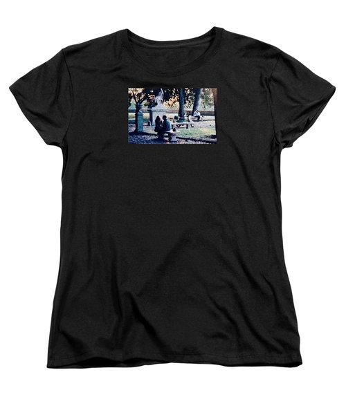 Roman Romance Tivoli Gardens Women's T-Shirt (Standard Cut) by Tom Wurl
