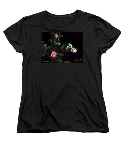 Romance Of The Roses Women's T-Shirt (Standard Cut) by Becky Lupe