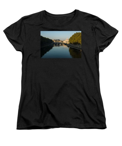 Women's T-Shirt (Standard Cut) featuring the photograph Rome Waking Up by Georgia Mizuleva