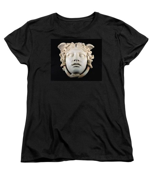 Rondanini Medusa, Copy Of A 5th Century Bc Greek Marble Original, Roman Plaster Women's T-Shirt (Standard Cut) by .