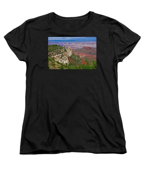 Roosevelt Point Two On North Rim/grand Canyon National Park-arizona   Women's T-Shirt (Standard Cut) by Ruth Hager