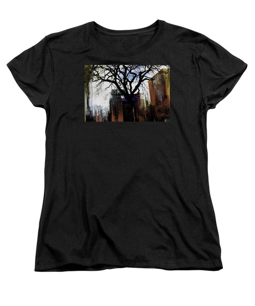 Women's T-Shirt (Standard Cut) featuring the mixed media Rooted In The Unstable by Terence Morrissey