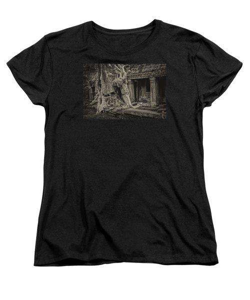 Roots In Ruins 7, Ta Prohm, 2014 Women's T-Shirt (Standard Cut)