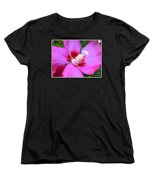 Women's T-Shirt (Standard Cut) featuring the photograph Rose Of Sharon Hibiscus by Patti Whitten