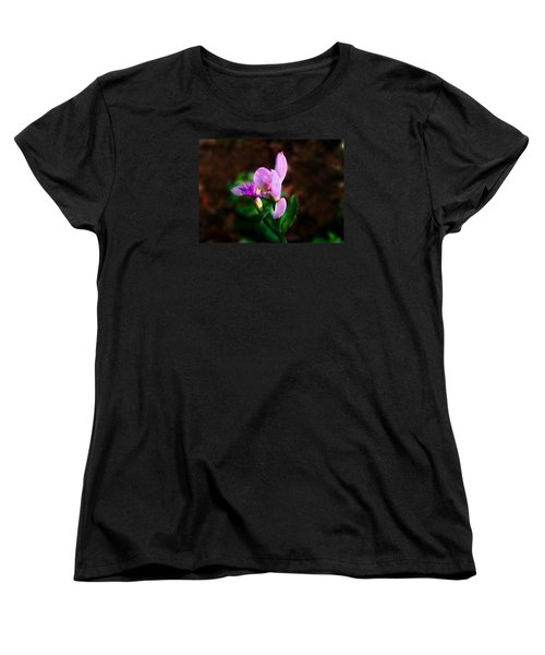 Rose Pogonia Orchid Women's T-Shirt (Standard Cut) by William Tanneberger