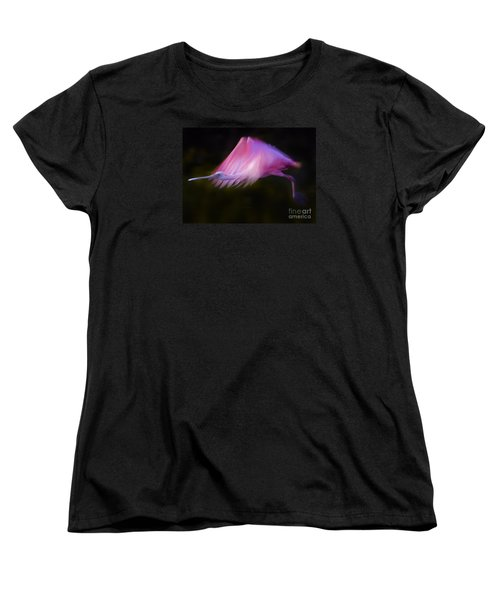 Women's T-Shirt (Standard Cut) featuring the photograph Roseate Spoonbill     #6205 by J L Woody Wooden