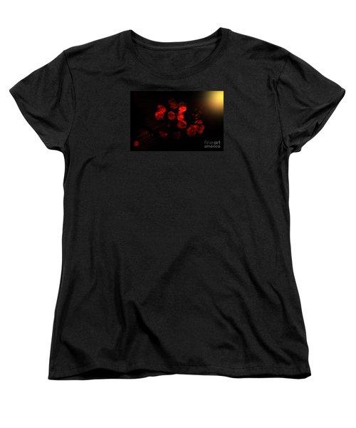 Roses And Black Women's T-Shirt (Standard Cut)