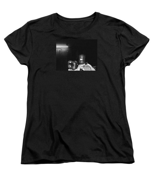 Women's T-Shirt (Standard Cut) featuring the photograph Roses Are Covering Your Black Car by Steven Macanka