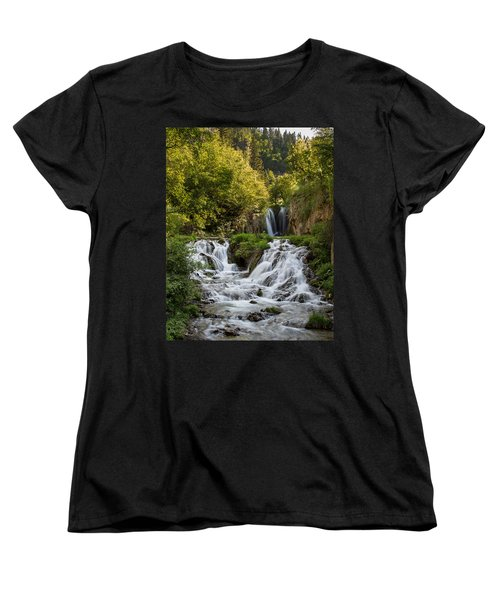 Women's T-Shirt (Standard Cut) featuring the photograph Roughlock Falls South Dakota by Patti Deters