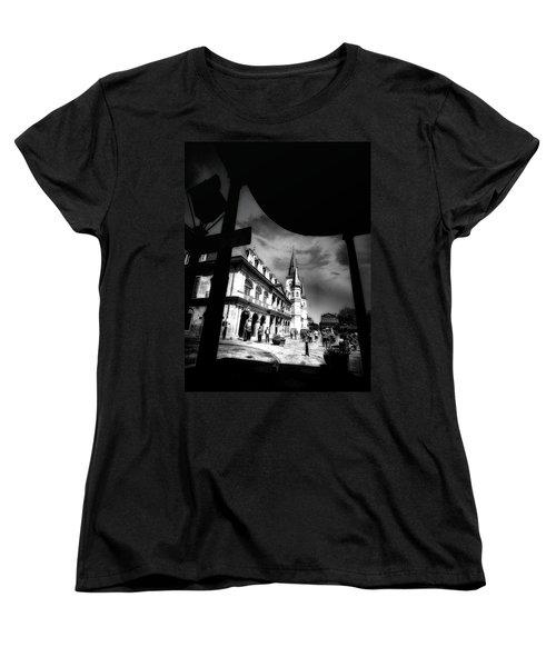 Round Corner Women's T-Shirt (Standard Cut) by Robert McCubbin