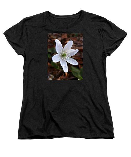 Women's T-Shirt (Standard Cut) featuring the photograph Wild Round-lobe Hepatica by William Tanneberger