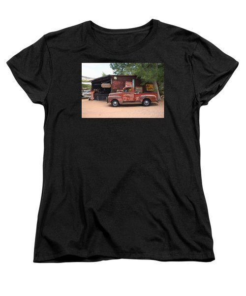 Route 66 Garage And Pickup Women's T-Shirt (Standard Cut)