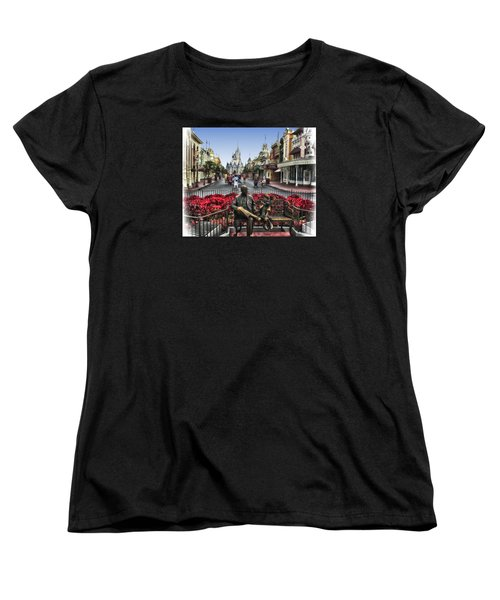 Roy And Minnie Mouse Walt Disney World Women's T-Shirt (Standard Cut) by Thomas Woolworth