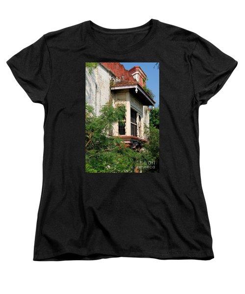 Royal Balcony Women's T-Shirt (Standard Cut) by Kiran Joshi