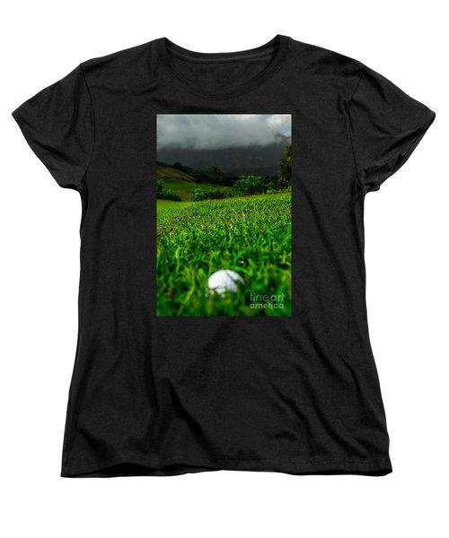 Women's T-Shirt (Standard Cut) featuring the photograph Royal Hawaiian Golf by Angela DeFrias