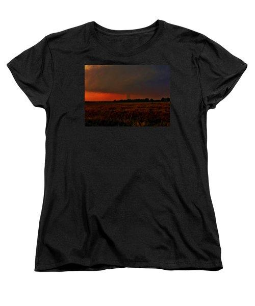 Women's T-Shirt (Standard Cut) featuring the photograph Rozel Tornado On The Horizon by Ed Sweeney