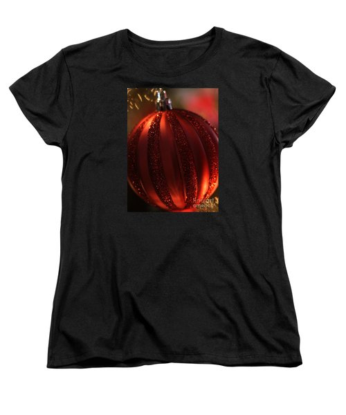 Ruby Red Christmas Women's T-Shirt (Standard Cut) by Linda Shafer