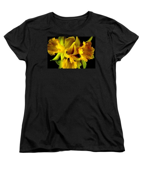 Ruffled Daffodils Women's T-Shirt (Standard Cut) by Marianne Dow