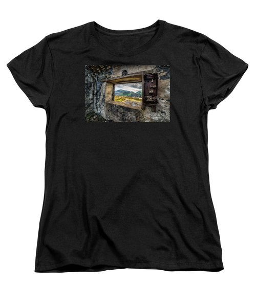 Ruin With A View  Women's T-Shirt (Standard Cut) by Adrian Evans