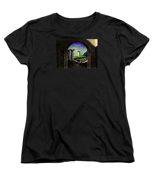Women's T-Shirt (Standard Cut) featuring the painting Ruins by Salman Ravish