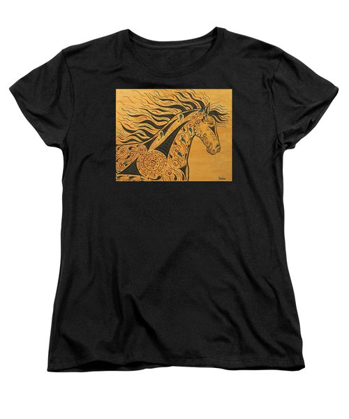 Runs With The Wind Women's T-Shirt (Standard Cut) by Susie WEBER