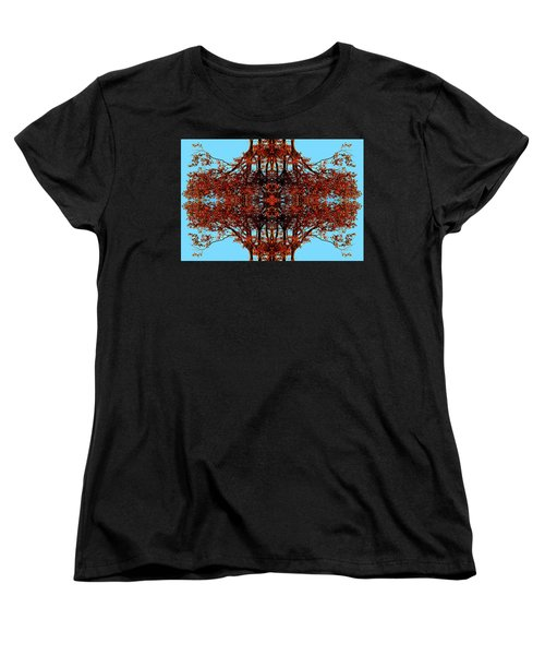 Women's T-Shirt (Standard Cut) featuring the photograph Rust And Sky 3 - Abstract Art Photo by Marianne Dow