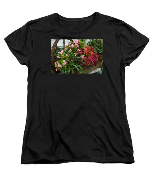 Women's T-Shirt (Standard Cut) featuring the photograph Rustic Garden by Christiane Hellner-OBrien