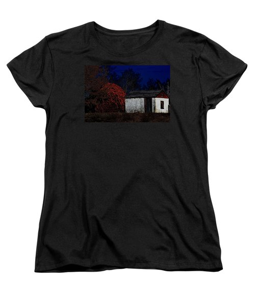 Rustic Shack By The Full Moon Women's T-Shirt (Standard Cut)