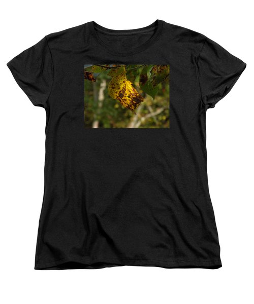 Women's T-Shirt (Standard Cut) featuring the photograph Rusty Leaf by Nick Kirby
