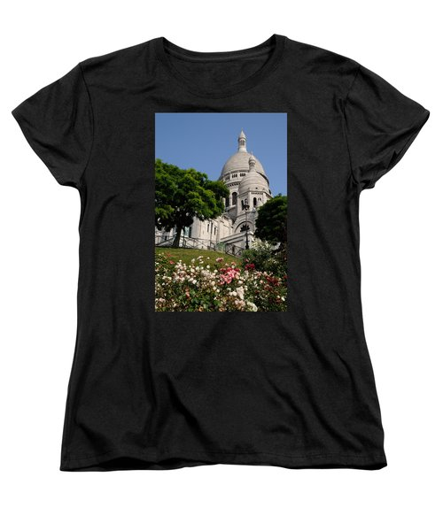 Sacre Coeur Flowers Women's T-Shirt (Standard Cut) by Jeremy Voisey