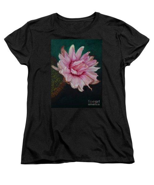 Sacred Red Lotus Women's T-Shirt (Standard Cut) by Mukta Gupta