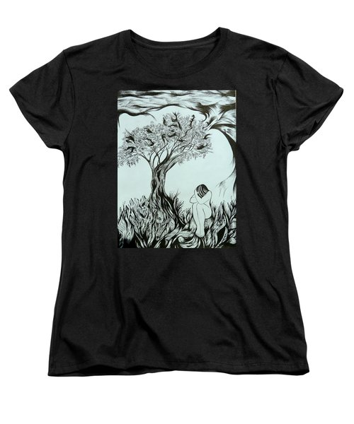 Sadness Women's T-Shirt (Standard Cut) by Anna  Duyunova